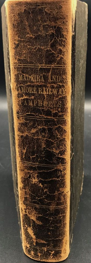 BUILDING THE MADERIA AND MAMORE RAILWAY, in the Valley of the Madeira River, Brazil and Bolivia, as recorded in a collection of five pamphlets, two broadsides, and a map, all bound together, and described individually below. Railroads.