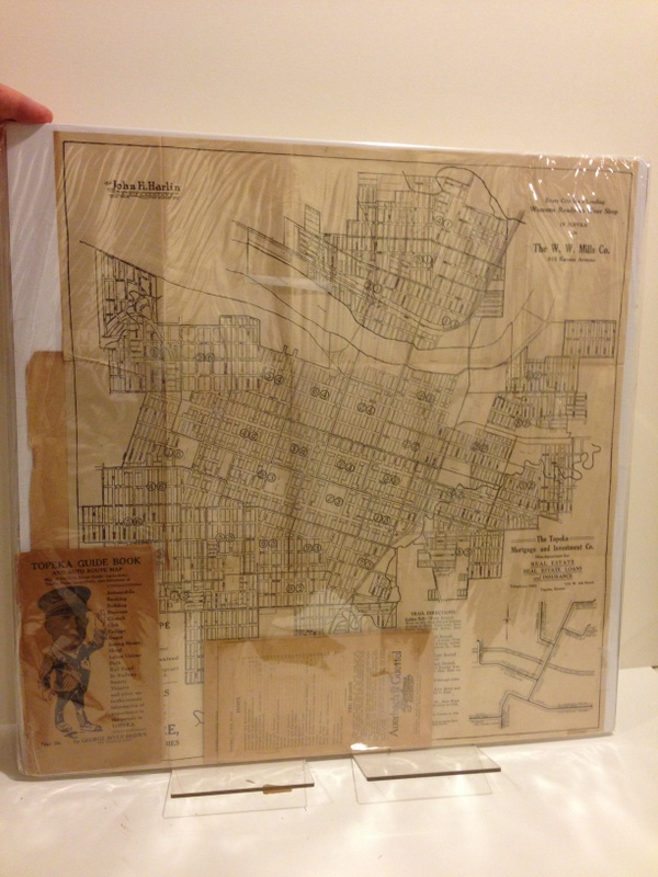 TOPEKA GUIDE BOOK AND AUTO ROUTE MAP. George Irven Brown.