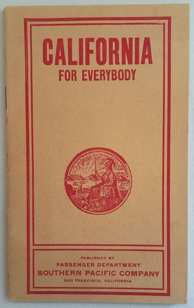 CALIFORNIA FOR EVERYBODY [cover title]