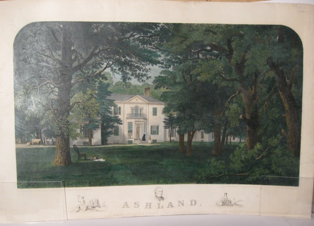 """Ashland / The Homestead of Henry Clay"" [caption title below image]; Drawn by James Hamilton after daguerreotypes taken on the spot by J.M. Hewitt. Engraved by J. Sartain. Henry Clay."