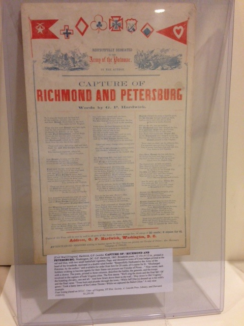 CAPTURE OF / RICHMOND AND PETERSBURG. G. P. Hardwick, words.