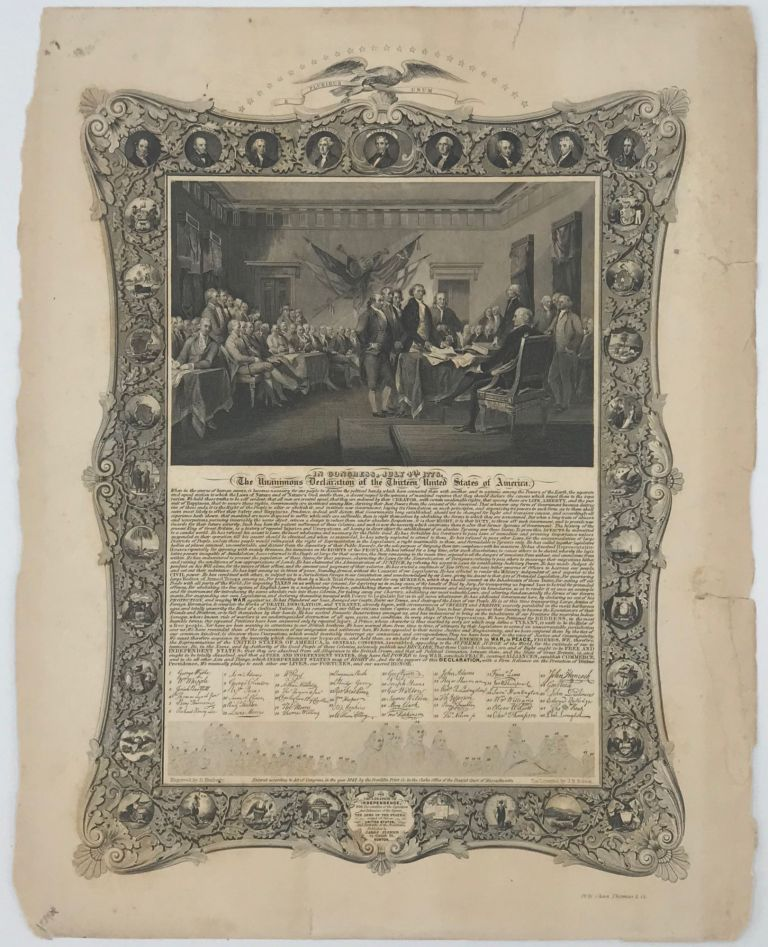 IN CONGRESS, JULY 4th, 1776, THE UNANIMOUS DECLARATION OF THE THIRTEEN UNITED STATES OF AMERICA. [caption title].