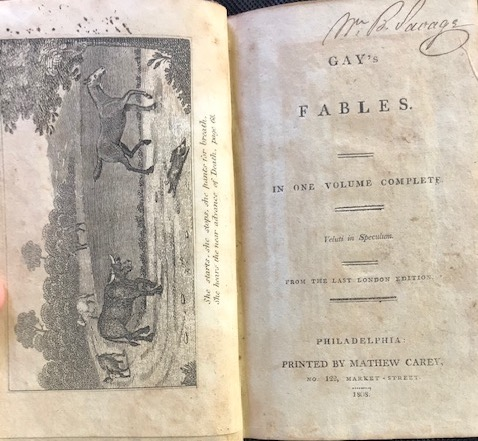 GAY'S FABLES. In One Volume. Complete From the Last London Edition. John Gay.