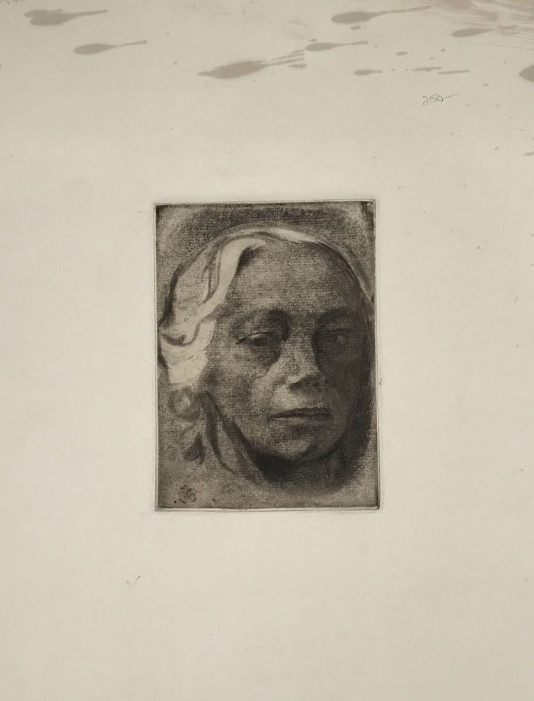 SELF PORTRAIT [supplied title]. Kathe Kollwitz.