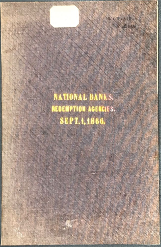 NATIONAL BANKS, with Their Redemption Agencies, September 1, 1866. [Caption title].