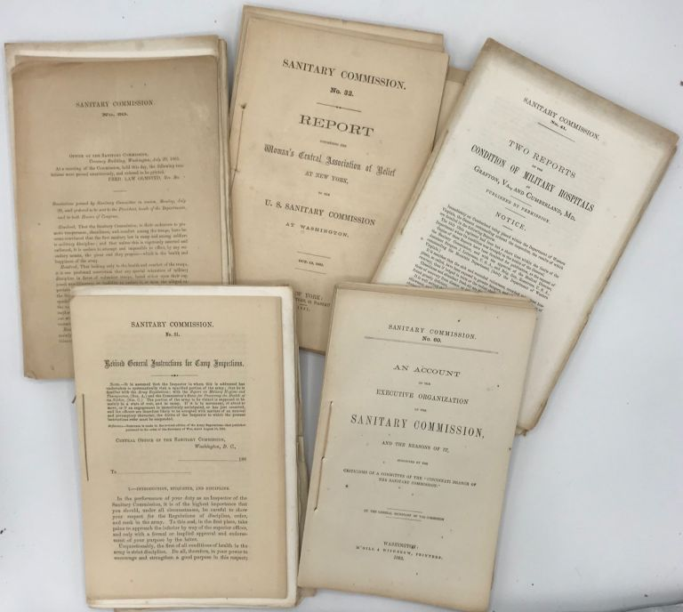 A GROUP OF SANITARY COMMISSION RESOLUTIONS AND REPORTS FOR JUNE 1861 - FEB. 1863. Civil War.