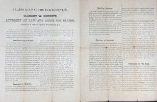 CLAIMS AGAINST THE UNITED STATES. CLEMENT W. BENNETT, ATTORNEY AT LAW AND AGENTS FOR CLAIMS,...