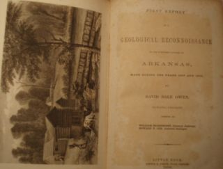FIRST REPORT OF A GEOLOGICAL RECONNOISSANCE OF THE NORTHERN COUNTIES OF ARKANSAS, MADE DURING THE YEARS 1857 AND 1858.