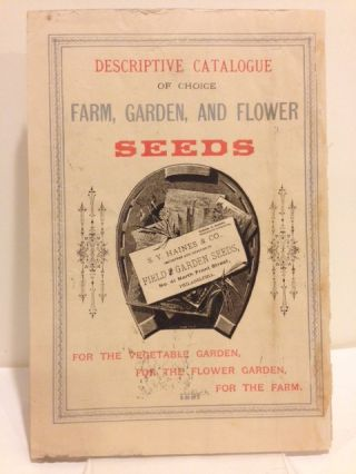 1881 S. Y. HAINES & CO.: ANNUAL CATALOGUE OF WARRANTED FIELD, GARDEN & FLOWER SEEDS [cover title].