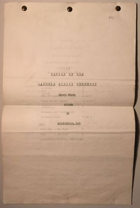 REPORT ON THE RAINBOW MINING PROPERTY, MOHAVE COUNTY, ARIZONA. E. M. Crabtree