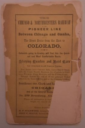 FIRST ANNUAL REPORT OF THE UNION COLONY OF COLORADO, INCLUDING A HISTORY OF THE TOWN OF GREELEY, FROM ITS DATE OF SETTLEMENT TO THE PRESENT TIME; WITH DESCRIPTIVE CHAPTERS ON AGRICULTURE, IRRIGATION, CLIMATE, MOUNTAIN SCENERY, FLORA, CHURCHES, SCHOOLS, SOCIETIES, &C.