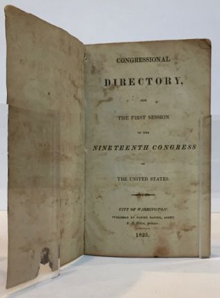 Congressional Directory, for the First Session of the Nineteenth Congress of the United States
