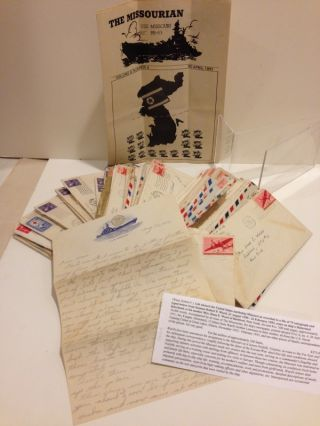Life aboard the United States battleship Missouri as recorded in a file of 79 autograph and typed...
