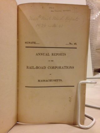 Annual Reports of the Rail-Road Corporations of Massachusetts.