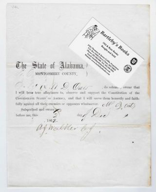 Declaring allegiance to the Constitution of the Confederate States of America, in a partly...