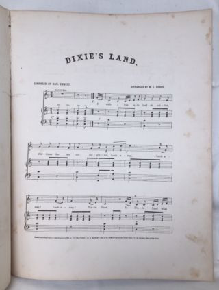 I Wish I Was in Dixie's Land. Written and composed expressly for Bryant's Minstrels. Arranged for the pianoforte by W.L. Hobbs.