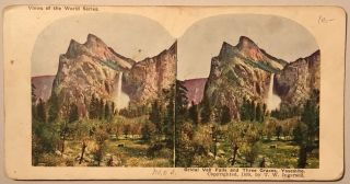 Bridal Veil Falls and Three Graces, Yosemite [caption title