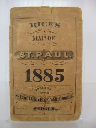 Rice's Map of the City of St. Paul.