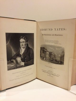 EDMUND YATES: HIS RECOLLECTIONS AND EXPERIENCES. IN tWO vOLUMES.