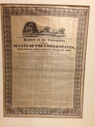REPORT OF THE COMMITTEE OF THE SENATE OF THE UNITED STATES, WITH WHICH THE SENATE CONCURRED,...