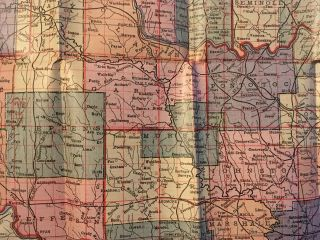 MAP OF THE STATE OF OKLAHOMA WITH COMPLETE 1910 CENSUS. [cover title]
