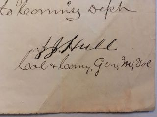 Requesting delivery of two hundred and eighty two pounds of tobacco to Capt. Nelson, in a manuscript note, signed by Hull, and dated June 29, [18]67.