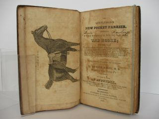 THE GENTLEMAN'S NEW POCKET FARRIER, COMPRISING A GENERAL DESCRIPTION OF THE NOBLE AND USEFUL ANIMAL THE HORSE; TOGETHER WITH THE QUICKEST AND SIMPLEST MODE OF FATTENING; NECESSARY TREATMENT WHILE UNDERGOING EXCESSIVE FATIGUE, OR ON A JOURNEY; THE CONSTRUCTION AND MANAGEMENT OF STABLES; DIFFERENT MARKS FOR ASCERTAINING THE AGE OF A HORSE, FROM THREE TO NINE YEARS.-- ALSO, A CONCISE ACCOUNT OF THE DISEASES TO WHICH THE HORSE IS SUBJECT, WITH SUCH REMEDIES AS LONG EXPERIENCE HAS PROVED TO BE EFFECTUAL; TO WHICH IS ADDED, AN APPENDIX, CONTAINING OBSERVATIONS AND RECEIPTS FOR THE CURE OF MOST OF THE COMMON DISTEMPERS INCIDENT TO OXEN, COWS, CALVES, SHEEP, LAMBS, SWINE, &c. &c. SELECTED FROM DIFFERENT AUTHORS.