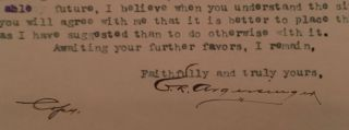 Seven typed letters, signed by the general manager of the Golconda Gold Mining and Milling Co. of Colorado, dated Feb. 12- March 19, 1897, plus a hand-drawn diagram of three of the mines shafts, all on company letterhead.