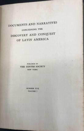 The Histories of Brazil.; Now translated into English for the first time and annotated by John Stetson, Jr., with a facsimile of the Portuguese original, 1576.
