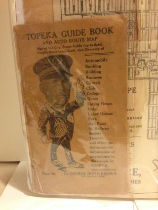 TOPEKA GUIDE BOOK AND AUTO ROUTE MAP.