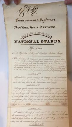 CORE HISTORICAL DOCUMENTS AND MEMORABILIA FROM THE FIRST COMPANY, 7TH REGIMENT NATIONAL GUARDS, NEW YORK STATE ARTILLERY, New York City, ca. 1816-1847.