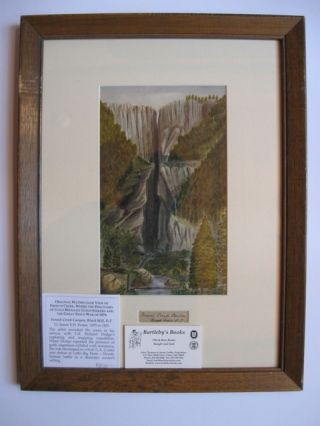 """French Creek Canyon, Black Hill, D.T.,"" a watercolor showing the sheer canyon walls, from top to..."