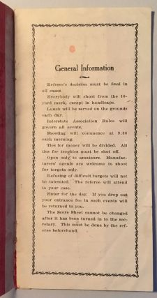 First Shooting Tournament under the Auspices of the Winnemucca Gun Club, May 18 and 19, 1912 [cover title].