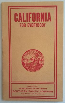 CALIFORNIA FOR EVERYBODY [cover title
