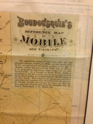 BOUDOUSQUIE'S REFERENCE MAP OF MOBILE AND VICINITY.