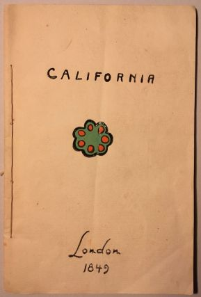 CALIFORNIA. [cover title