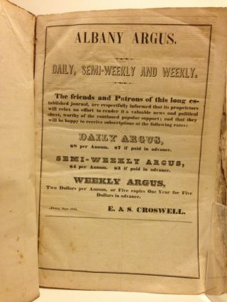 HISTORY OF THE POLITICAL CAMPAIGN OF 1844. [manuscript cover title on a paper label].