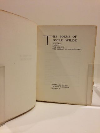 THE POEMS OF OSCAR WILDE. RAVENNA, POEMS, THE SPHINX, THE BALLAD OF READING GAOL.