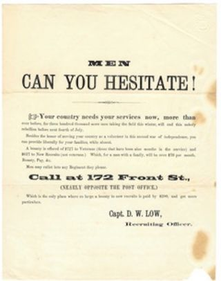 Men can you hesitate! / Your country needs your services now, more than / ever before, for three...