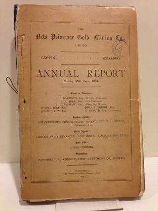 SOUTH AFRICAN GOLD MINING REPORTS, PROSPECTUSES, etc., INCLUDING FOLDING PLATES AND MAPS