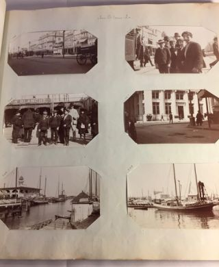 """TRAVELS THROUGH THE AMERICAN SOUTH, AND CUBA, 1904-1907, ON BOARD THE HOUSEBOAT """"EVERGLADES,"""" AS RECORDED IN OVER 760 PHOTOS, PLUS POSTCARDS, MENUS, INVITATIONS, AND A TYPED TRAVELOGUE. Various places including Memphis, TN; Helena, and Arkansas City, AR; Vicksburg, and Natchez, MS; Montgomery, AL; New Orleans, and Madisonville, LA; Pensacola, Cedar Key, Apalachicola, Punta Rassa, Fort Myers, Miami, Cocoa Grove, and Palm Beach, FL; Havana, Cuba, et al. ca."""