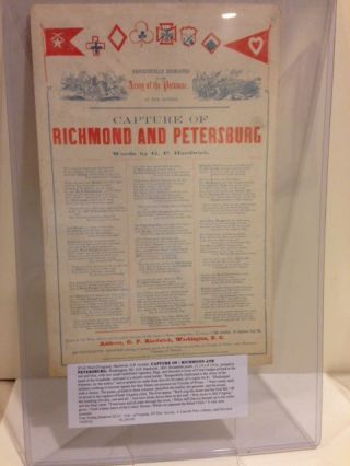 CAPTURE OF / RICHMOND AND PETERSBURG. G. P. Hardwick, words