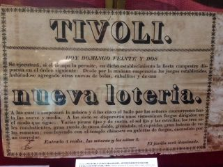 TWO EARLY CUBAN BROADSIDES, ADVERTISEMENTS FOR THE TIVOLI COUNTRY FAIR, 1820's.