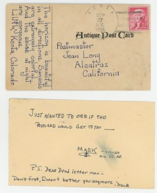 THE DEAD LETTER FILE FROM ALCATRAZ PRISON, 1951-1962.
