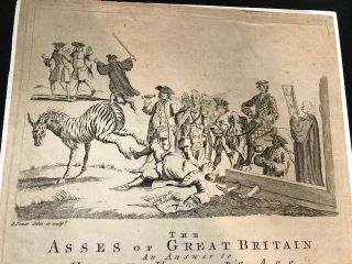 THE / ASSES OF GREAT BRITAIN, / AN ANSWER TO / HARRY H___D'S ASS / BY FART-INANDO / A MODERN POLITICAL ASS-TROLOGER. Tune the Ass in the Chaplet. [followed by 20 lines of text, in two columns]