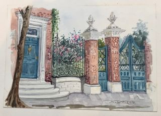 Old Garden Gates and Walls, Charleston, S.C., 1908 [gilt-stamped cover title].