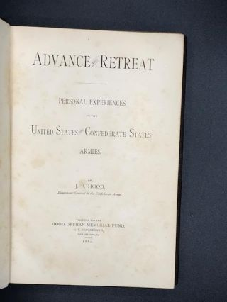 Advance and Retreat: Personal Experiences in the United States and Confederate States Armies.