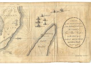 A SKETCH OF THE SITUATION & STATIONS OF THE BRITISH VESSELS, under the Command of Sir Peter...