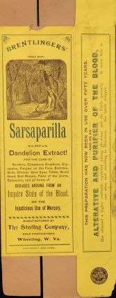 BRENTLINGERS' SARSPARILLA AND DANDELION EXTRACT! For the Cure of Scrofula, Cutaneous Eruptions,...