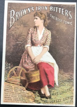 BROWN'S IRON BITTERS. THE BEST TONIC. CERTAIN CURE FOR DISEASES REQUIRING A COMPLETE TONIC.... [etc